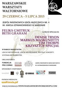 Warsaw Horn Workshop @ Zespol Państwowych Szkół Muzycznych nr. 4 im. Karola Szymanowskiego | Warszawa | mazowieckie | Polska