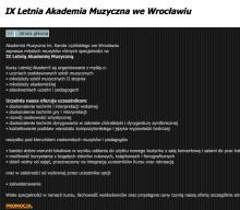 IX Letnia Akademia Muzyczna we Wrocławiu